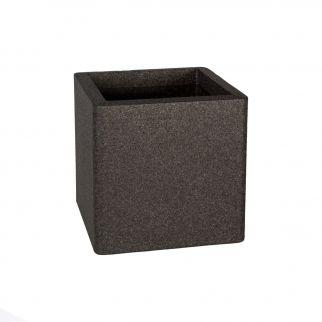 pot cube léger noir