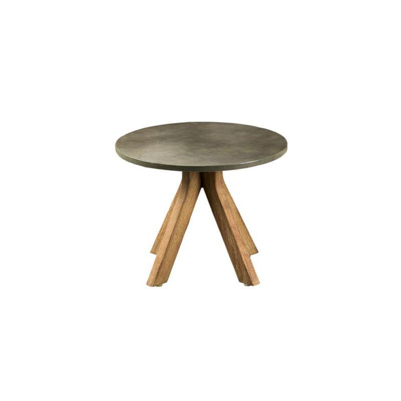 Table basse ronde en bois LAGOS, diamètre 50 cm | Arbonie