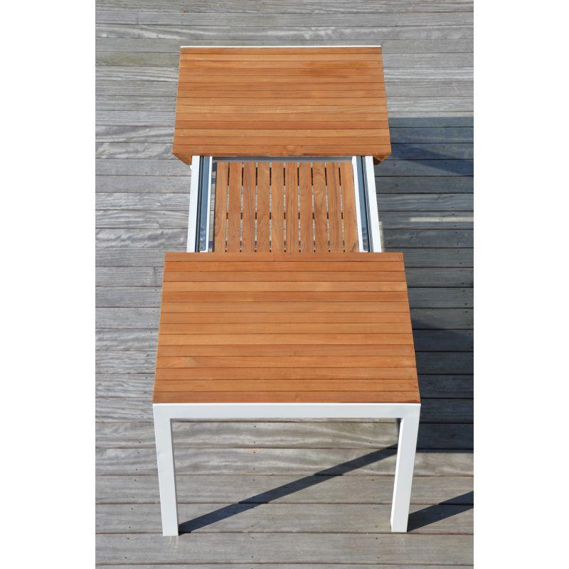 Table De Jardin Extensible Aluminium Et Teck Palawan Arbonie