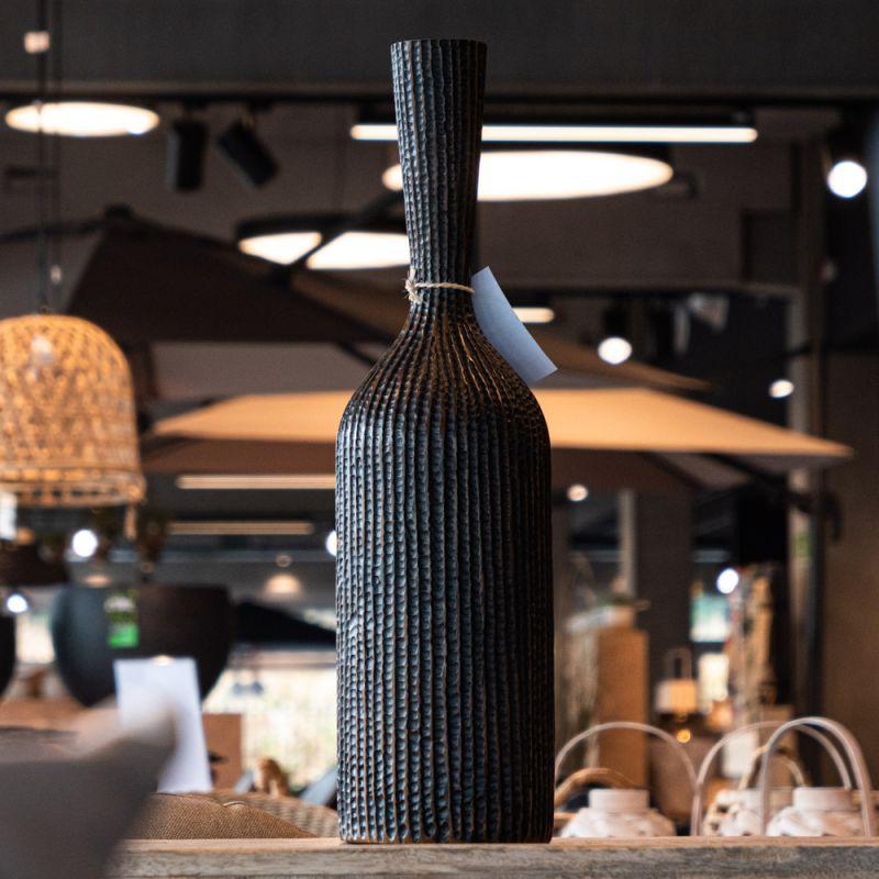 Vase en polyrésine marron