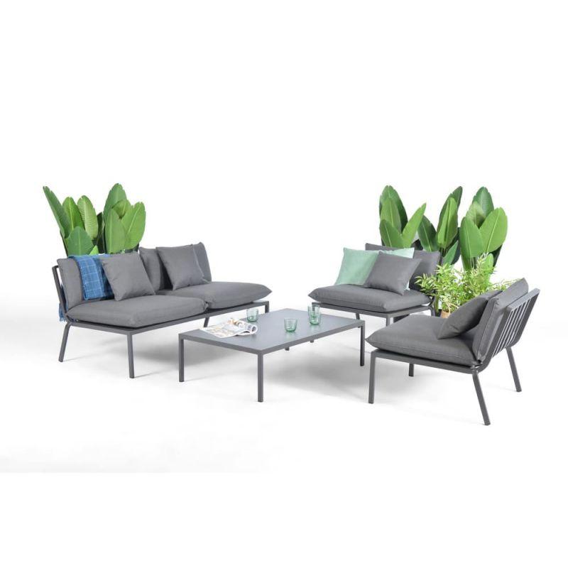 Salon de jardin bas aluminium RHODES