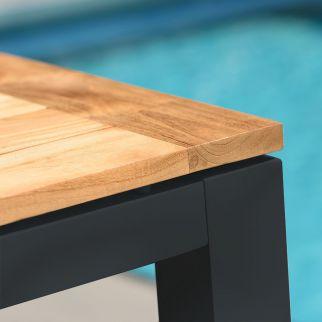 Table de bar en aluminium et teck SENSE | Arbonie