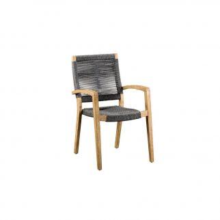 fauteuil de jardin corde et bois