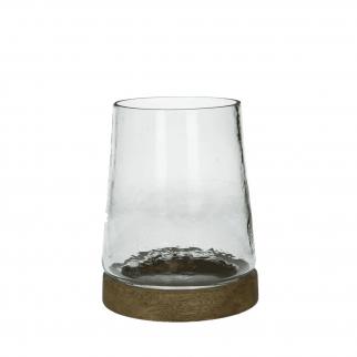 photophore en verre transparent