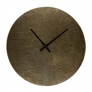 horloge murale aluminium or