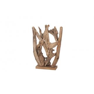 Sculpture de branches en teck
