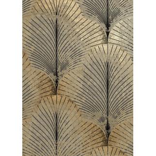 tableau feuille de palmier doré