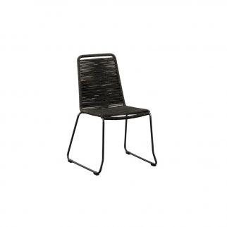 Chaise en corde noire