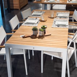 Ensemble table de jardin PALAWAN + 4 chaises ELOS