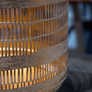 Lanterne en fer et cuir – H...