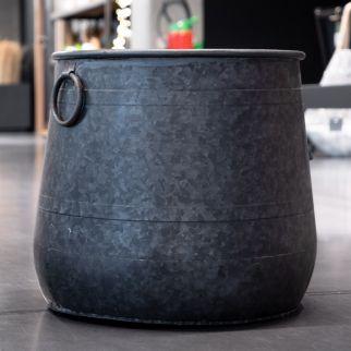 Panier en métal bosselé – H 35 cm