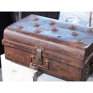 grand coffre vintage métal