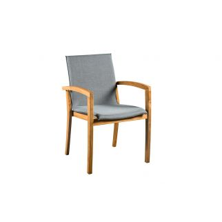 fauteuils teck tissu