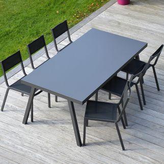 Ensemble table de jardin LUBANG + 6 chaises BOHOL