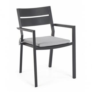 fauteuil jardin aluminium anthracite