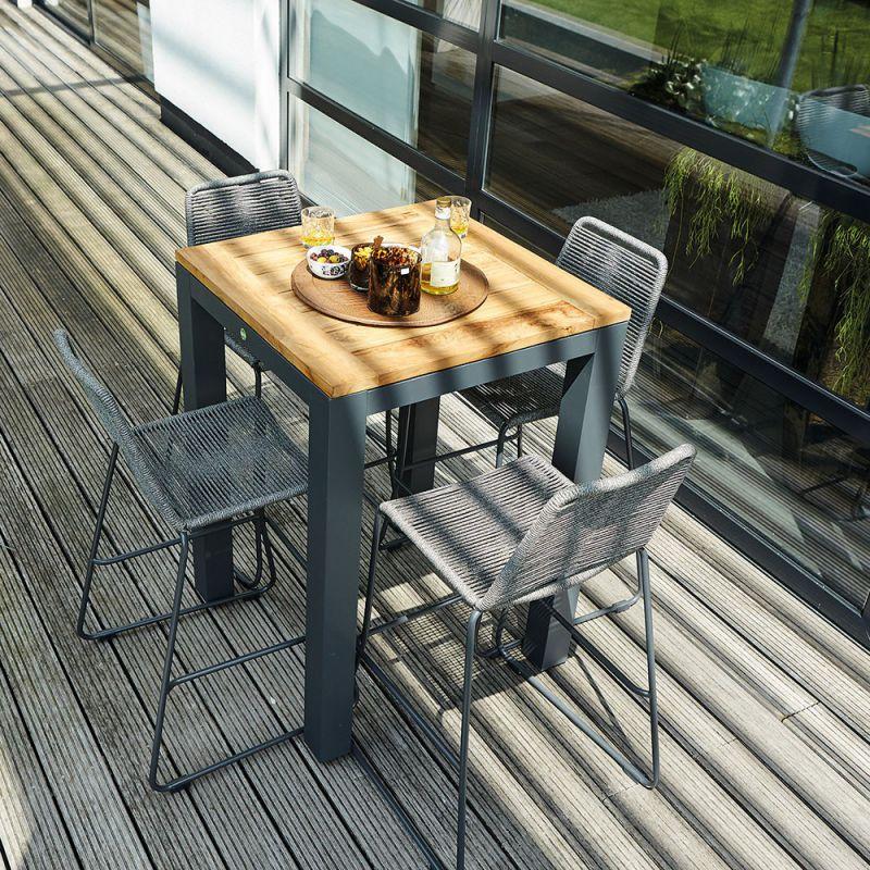 Table de bar haute bois