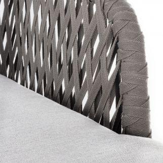 Canapé de jardin PELICAN, en aluminium et corde | Arbonie