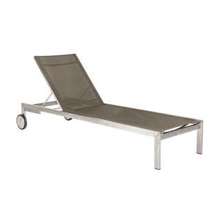chaise longue inox