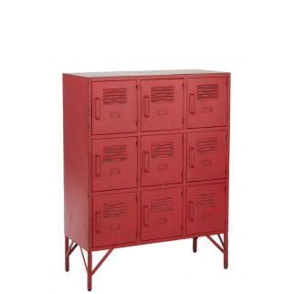 Cabinet métal rouge