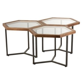 Tables basses hexagonales