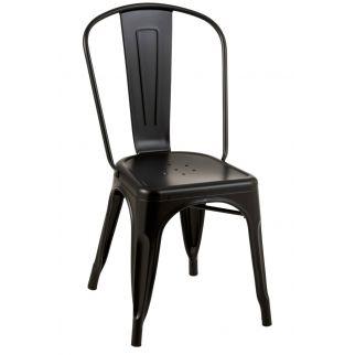 Chaise industrielle noire