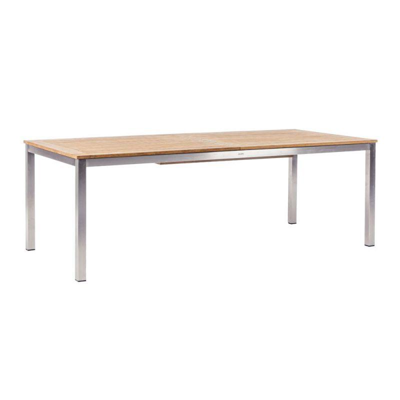 Table de jardin extensible ADAM, en inox et Teck | Arbonie