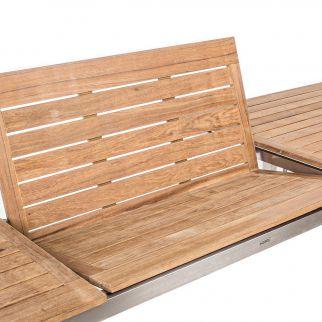 Ensemble salon de jardin table ADAM + 6 fauteuils EVANS