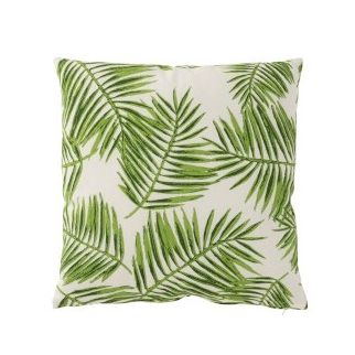 coussin tropical vert clair