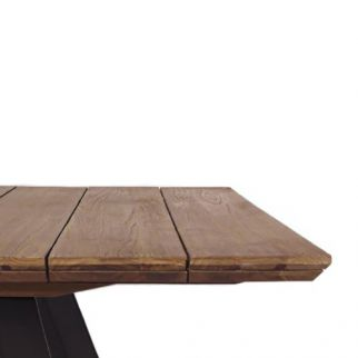 Table de jardin en aluminium et teck THESIS | Arbonie