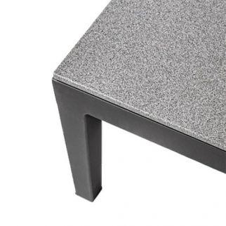 Table basse de jardin PELICAN, en verre et aluminium | Arbonie