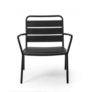 fauteuil acier noir exterieur