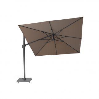 Parasol déporté taupe