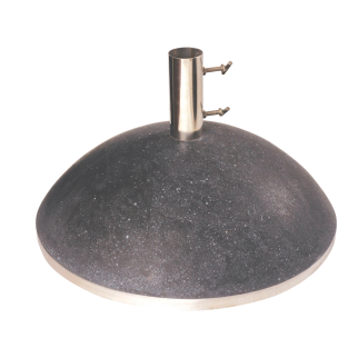 Pied parasol droit noir 44 kg - Ø50 cm