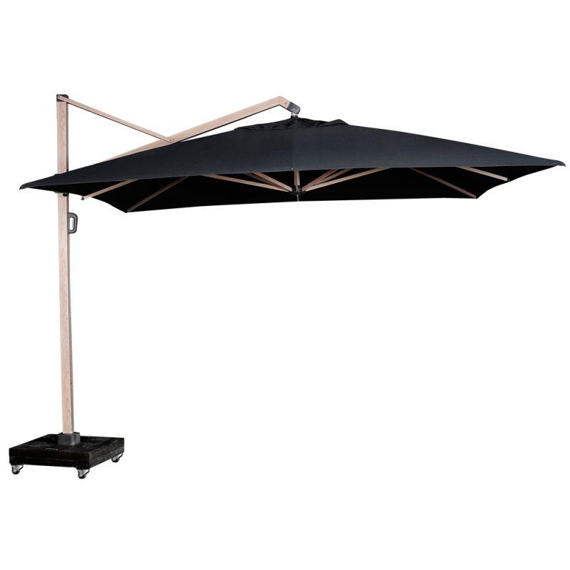parasol déporté imitation bois