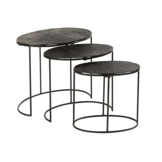 table gigogne noir