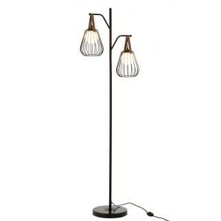 lampadaire filaire noir
