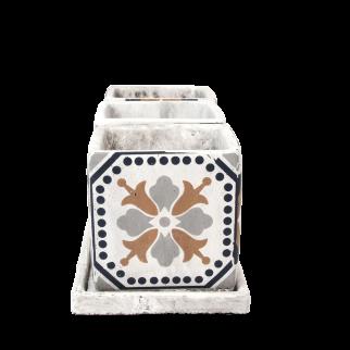 cache-pot ciment carré