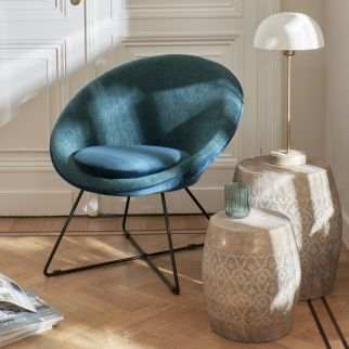 Fauteuil GARBO Pomax Teal