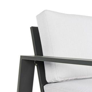 Salon de jardin Bizzotto ATLANTIC, zoom accoudoir et dossier fauteuil