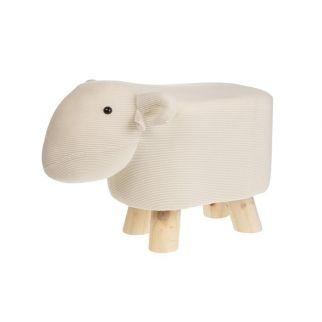 Tabouret mouton beige
