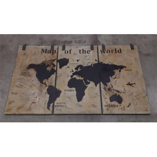 carte du monde bois