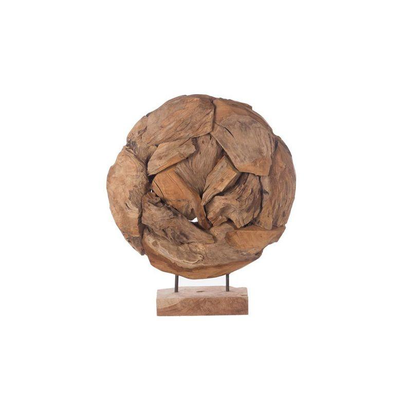 Sculpture teck ronde
