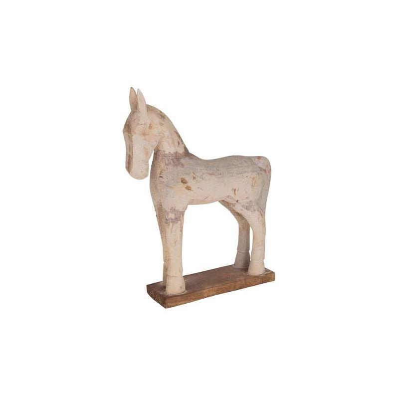 sculpture cheval bois