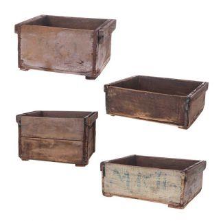 caisse vintage en bois
