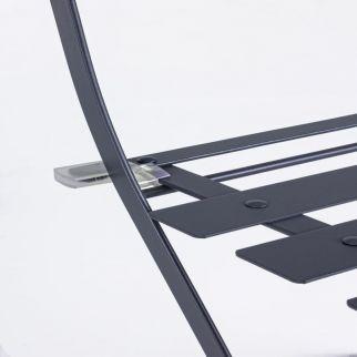 set bistrot détail gris anthracite