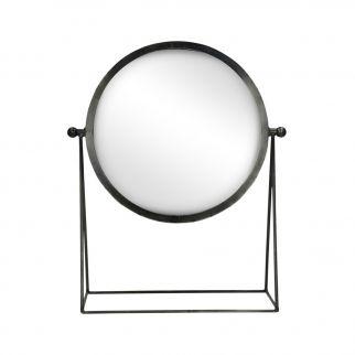 Miroir sur pied metal noir