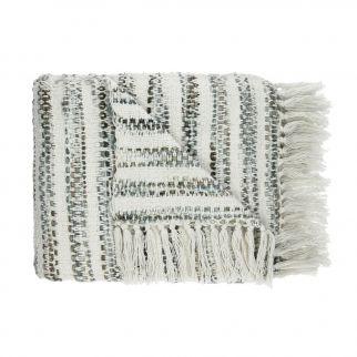 Plaid coton frange