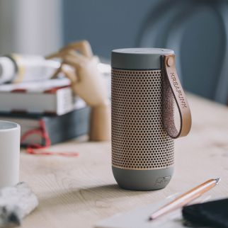 enceinte bluetooth marron