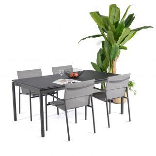 Table extensible plateau verre