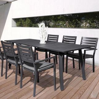table et chaise de jardin aluminium
